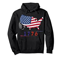 B Ross 1776 American Flag Eagle 4th Of July Shirts Hoodie Black