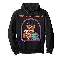 Eat Your Unicorn Meat T-shirt Hoodie Black