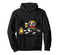 Shuh Duh Fuh Cup Bear Drinking Beer Camping Funny Panda T Shirt Hoodie Black