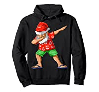 Dabbing Santa Christmas In July Party Hawaiian Santa Beach Shirts Hoodie Black