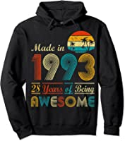 Made In 1993 Vintage Retro 28 Years Old 28th Birthday Gifts T-shirt Hoodie Black