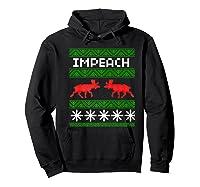 Impeach Christmas T Shirt Anti Trump Tee Hoodie Black