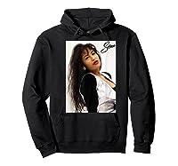 Selenas Vintage Distressed Classic Shirts Hoodie Black