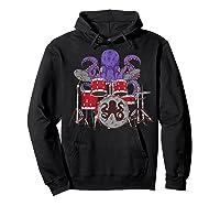 Octopus Drumming Cute Sea Drummer Lover Funny Gift Shirts Hoodie Black