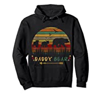 Daddy Bear With Two Cups Retro Gift For Father S Day T Shirt Hoodie Black