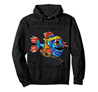 Joy To Fishes In Deep Blue Sea Hippie Shirts Hoodie Black