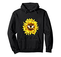 Let It Bee Sunflower Gift For Shirts Hoodie Black
