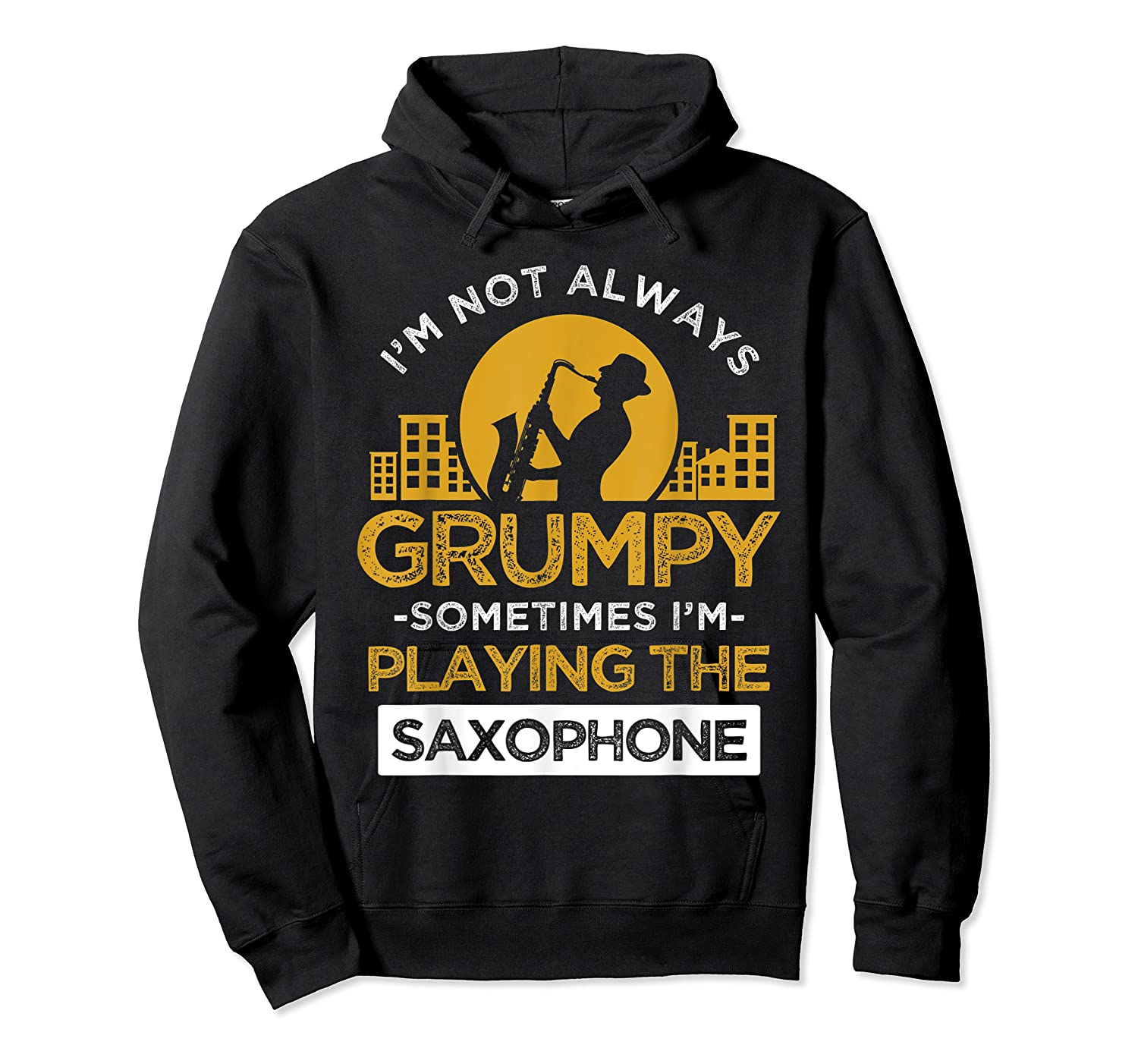 Playing The Saxophone Marching Band Jazz Music Shirts Unisex Pullover Hoodie