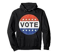 Vote Distressed Design Political Us Election 2020 T Shirt Hoodie Black