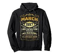 March 1997 Vintage 22nd Birthday 22 Years Old Gif Shirts Hoodie Black