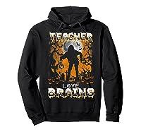 Teas Love Brains Funny Halloween School Gift T-shirt Hoodie Black