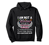 I Am Not A Widow I Am The Wife Of A Guardian Angel Butterfly Shirts Hoodie Black