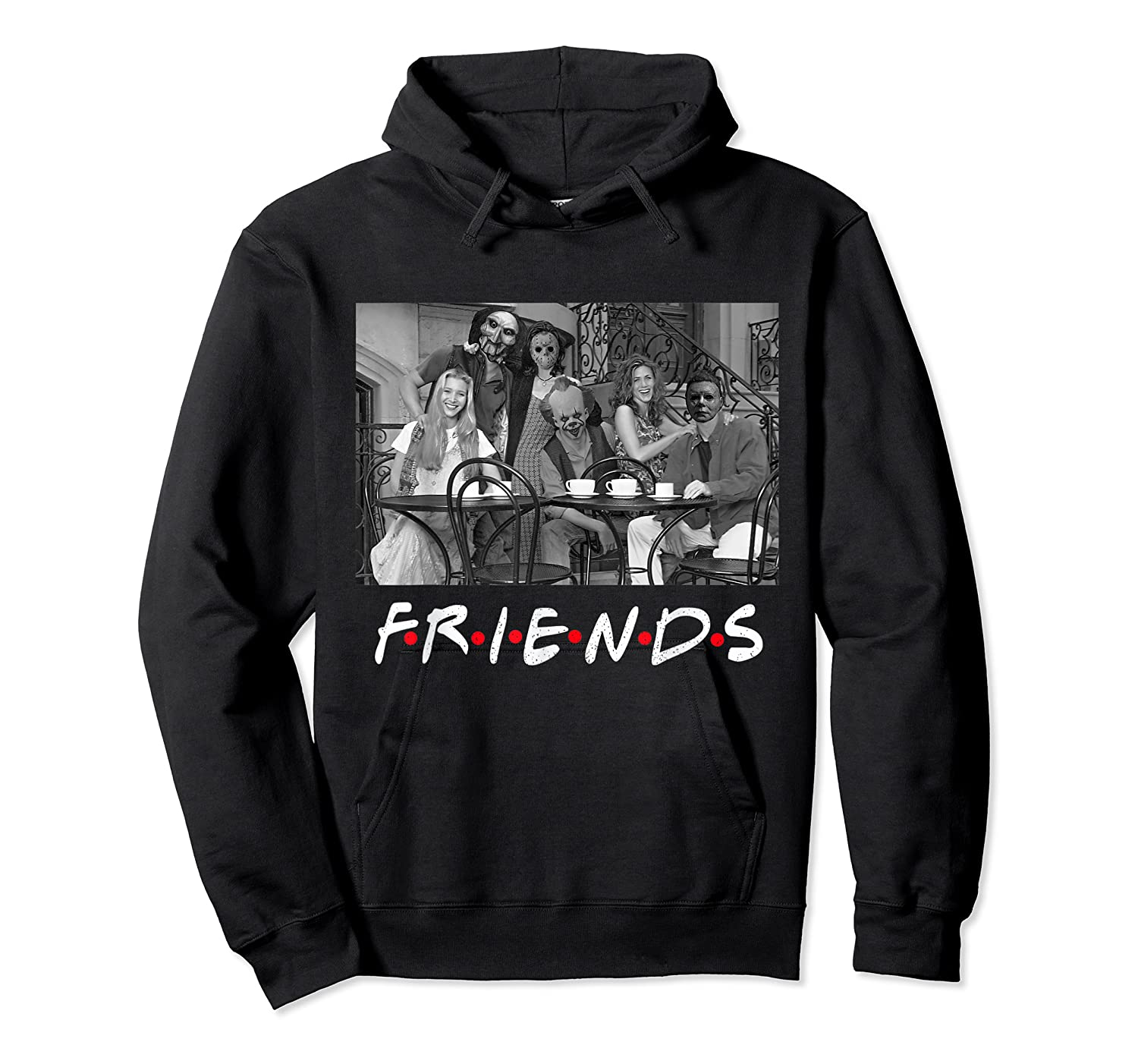 Halloween Horror Team Scary Masks Movies Friends New Shirt Unisex Pullover Hoodie