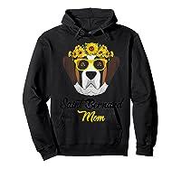 Saint Bernard Mom Shirt Sunflower Dog Lovers Mother S Day Hoodie Black