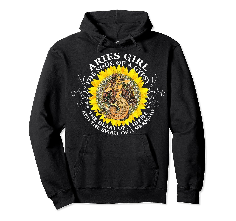 Aries Girl The Soul Of A Mermaid Tshirt Birthday Gifts Unisex Pullover Hoodie