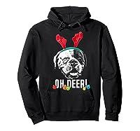 Oh Deer Funny American Bulldog Xmas Premium T-shirt Hoodie Black