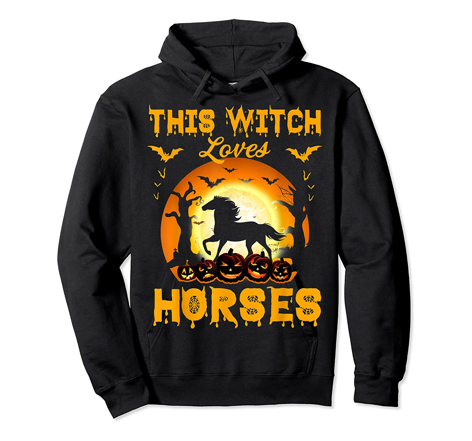This Witch Loves Horses T-shirt Halloween Cosplay Unisex Pullover Hoodie