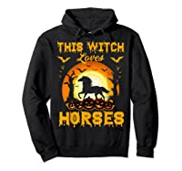 This Witch Loves Horses T-shirt Halloween Cosplay Hoodie Black