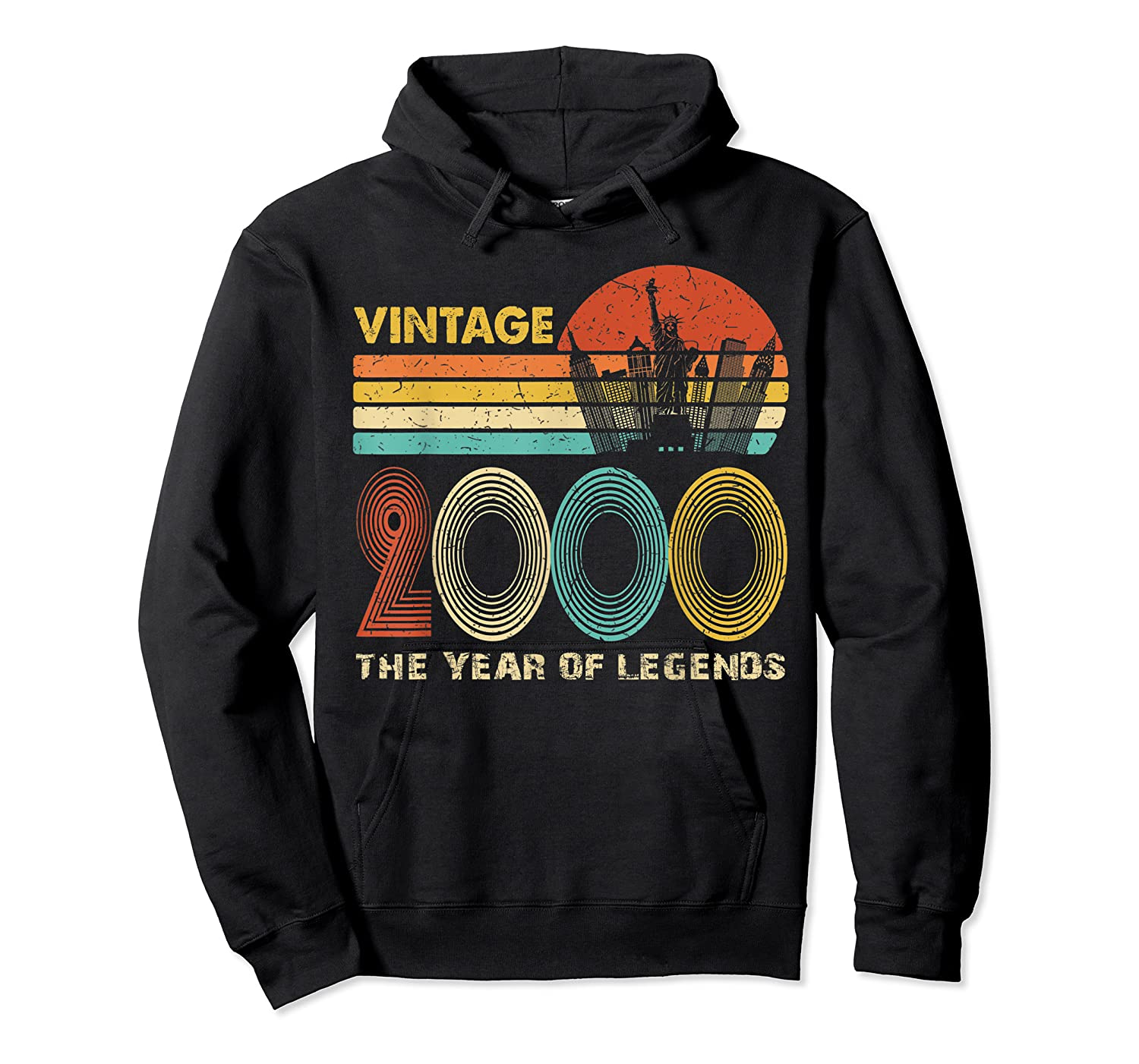 19th Birthday Gift Vintage 2000 T-shirt 19 Years Old T-shirt Unisex Pullover Hoodie