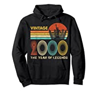 19th Birthday Gift Vintage 2000 T-shirt 19 Years Old T-shirt Hoodie Black