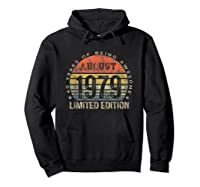 Born In August 1979 40 Years Old August Birth Shirts Hoodie Black