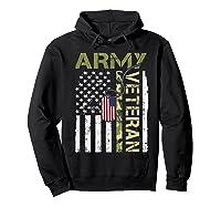 American Flag Camo Proud Us Army Veteran T-shirt Hoodie Black