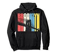 Vintage Brooklyn New York Skyline Retro Ny Shirt Gift Tee Hoodie Black