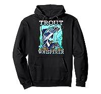 Funny Trout Fishing, Fish Fisherman Gifts Baseball Shirts Hoodie Black