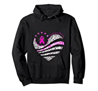 Funny Love Heart Breast Cancer Awareness Pink Ribbon Month Tank Top Shirts Hoodie Black