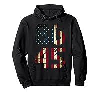 8645 Impeach Trump American Flag T Shirt Hoodie Black
