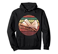 Bookworm Vintage Retro Bookish Reading Read A Book Day Gift T Shirt Hoodie Black