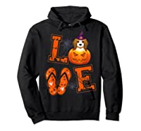 Love Beagle Pumpkin Halloween T-shirt Halloween Gifts Hoodie Black