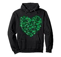 Happy Saint Patrick S Day Shamrock Heart T Shirt Hoodie Black