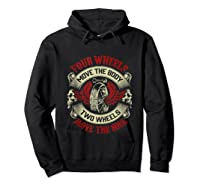 Biker Dad Gift Fathers Day Motorcycles Two Wheels Move Soul Tank Top Shirts Hoodie Black