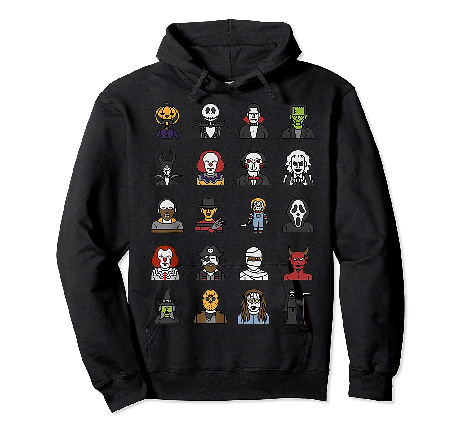 Friends Cartoon Halloween Character Scary Horror Movies T Shirt Unisex Pullover Hoodie