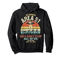 Area 51 5k Fun Run Shirt. Retro Style Funny Ufo, Alien T-shirt Hoodie Black