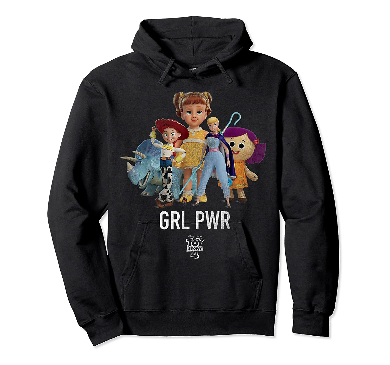 Disney Pixar Toy Story 4 Grl Pwr Distressed T-shirt Unisex Pullover Hoodie