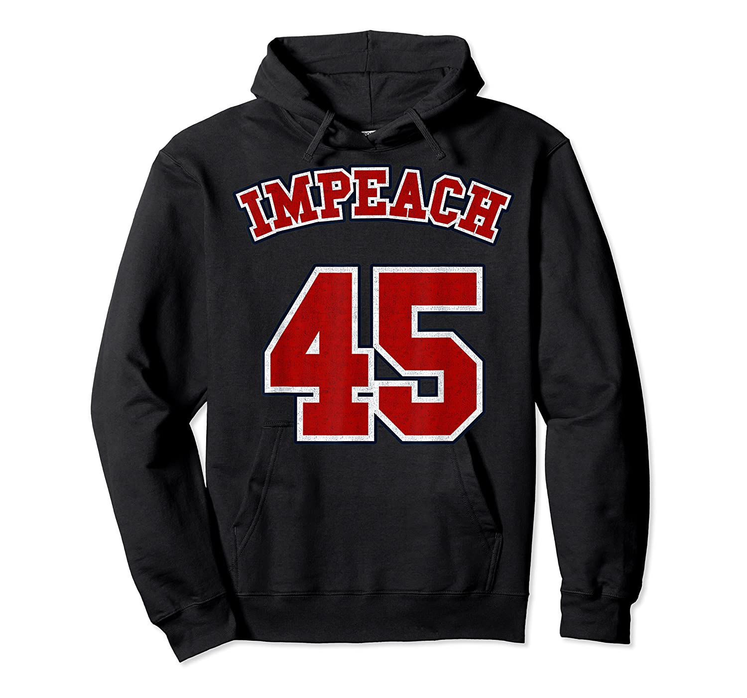 Anti Trump Red And Blue Retro Sports Style Impeach 45 T Shirt Unisex Pullover Hoodie