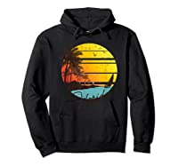 Florida Sunshine State Retro Summer Tropical Beach Shirts Hoodie Black