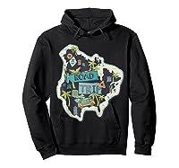 Road Trip 2019 Family Summer Vacation Hippie Van Surf Gift Zip Shirts Hoodie Black