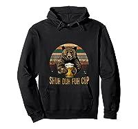Shuh Duh Fuh Cup Bear Drinking Beer Camping Funny Tank Top Shirts Hoodie Black