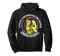 Unbreakable Alveolar Rhabdomyosarcoma Warrior T Shirts Hoodie Black