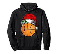 Ball Basketball Santa Hat Christmas Matching Funny Gifts Shirts Hoodie Black