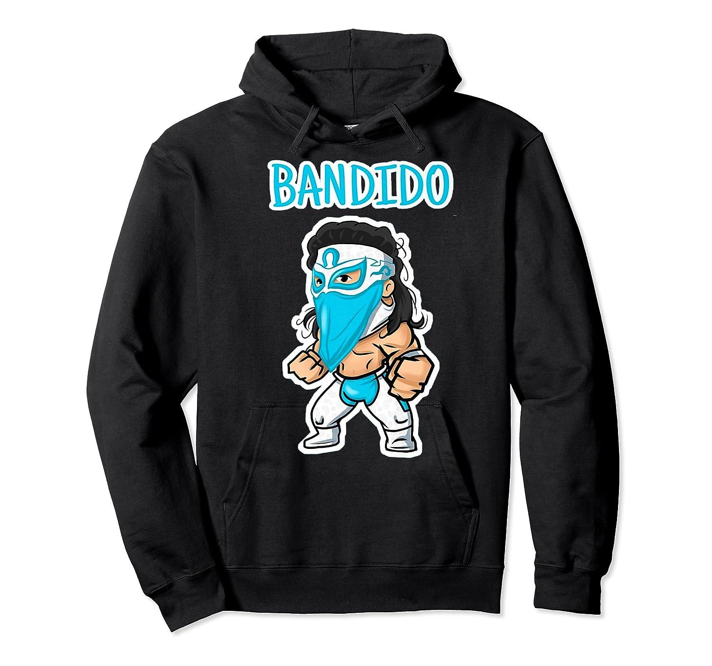 Feel Ink Bandido Bandit Lucha Libre Mexican Pro Wrestler Premium T Shirt Unisex Pullover Hoodie