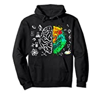 Colorful Brain Science And Art Love Science Art Gifts T Shirt Hoodie Black