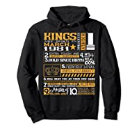 39th Birthday Gift Kings Born In March 1981 39 Years Old Shirts Hoodie Black