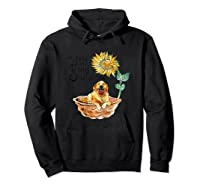 You Are My Sunshine Golden Retriever T Shirt, Sunflower And Hoodie Black