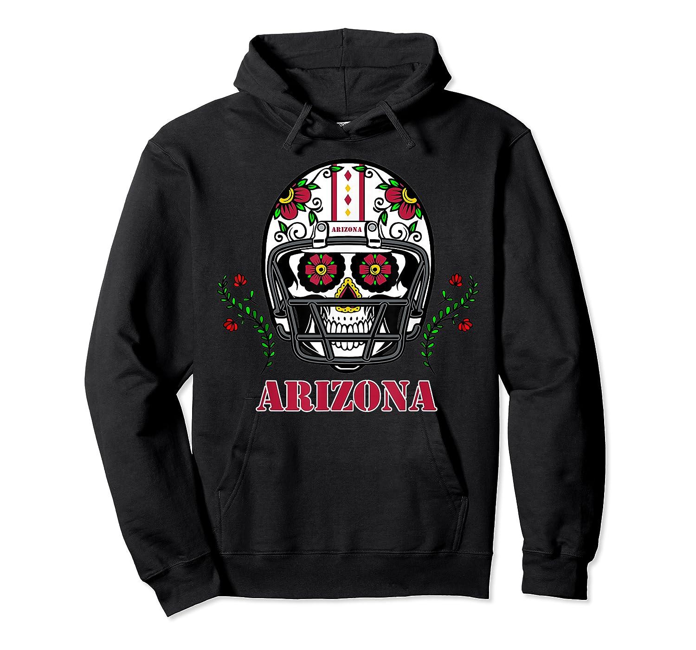 Arizona Football Helmet Sugar Skull Day Of The Dead T Shirt Unisex Pullover Hoodie