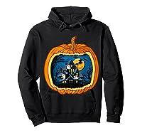Funny Pumpkin Vintage Halloween Pumpkin Costume Shirts Hoodie Black