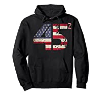 Trump 45 Squared 2020 Second Presidential Term Gift Shirts Hoodie Black